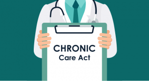 physician holding a clipboard for chronic care act