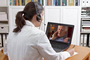 telemedicine female physician