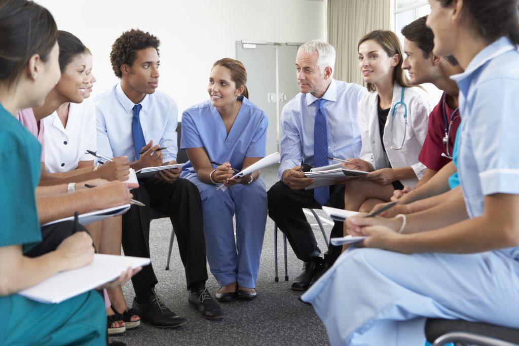 Interdisciplinary team meeting