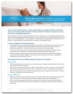 Home-Based Primary Care for Caregivers